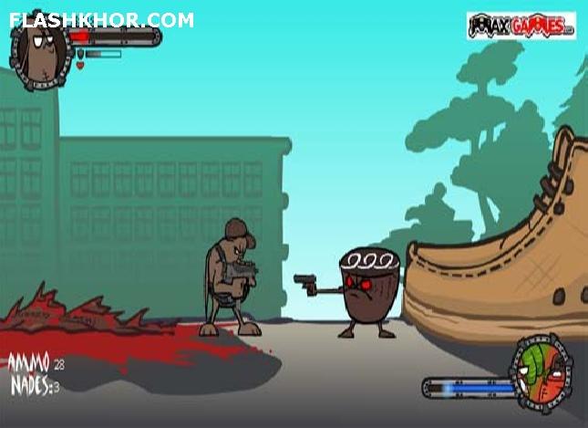 بازی آنلاین لوبیای گانگستر - تیر اندازی فلش