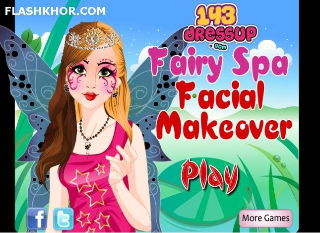 بازی آنلاین آرایشگری پری شاهزاده طلایی اسپا - دخترانه آرایش فلش