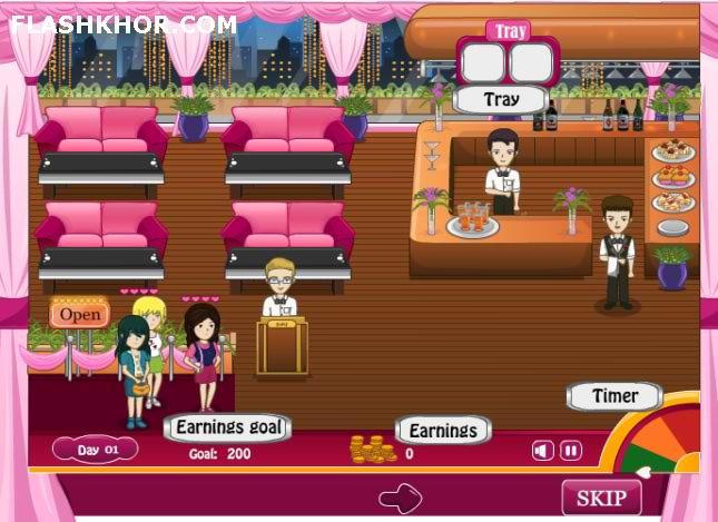 بازی آنلاین مدیریتی رستوران کلوب شبانه - دخترانه فلش
