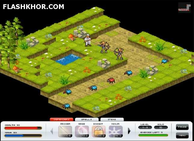 بازی آنلاین نهایت دفاع 2 - استراتژی فلش
