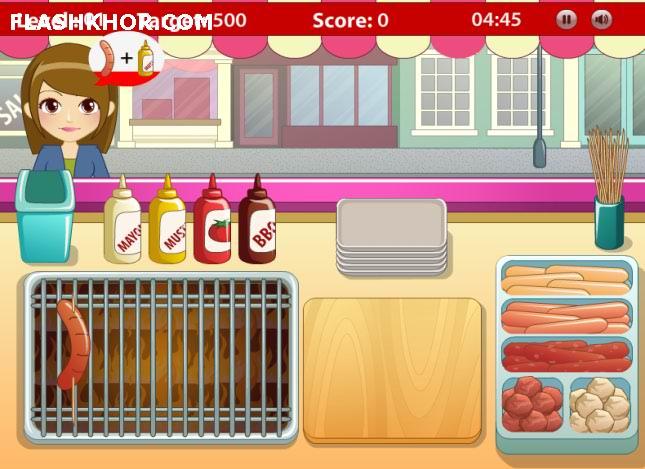 بازی آنلاین مدیریتی فست فود گریل - دخترانه فلش