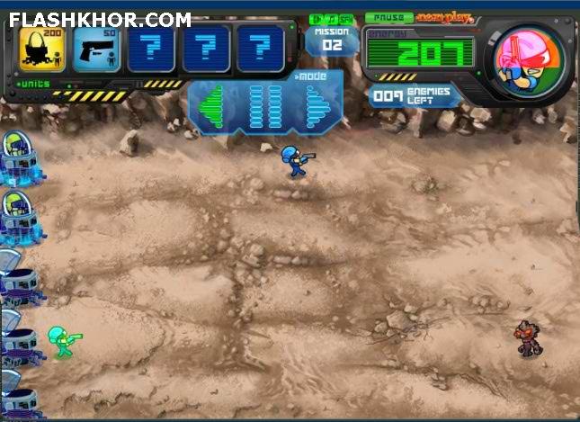بازی آنلاین صخره و جنگ - استراتژیک فلش