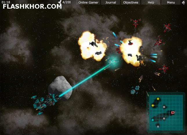 بازی آنلاین فضایی اسکادران ستاره - استراتژیک فلش