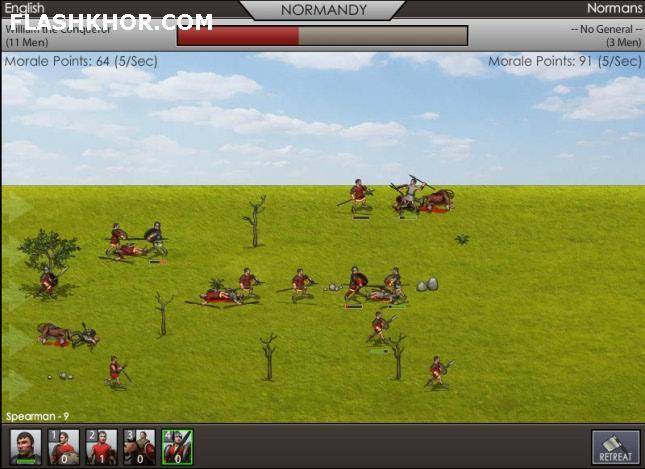 بازی آنلاین پادشاهی شمشیر - استراتژیک فلش