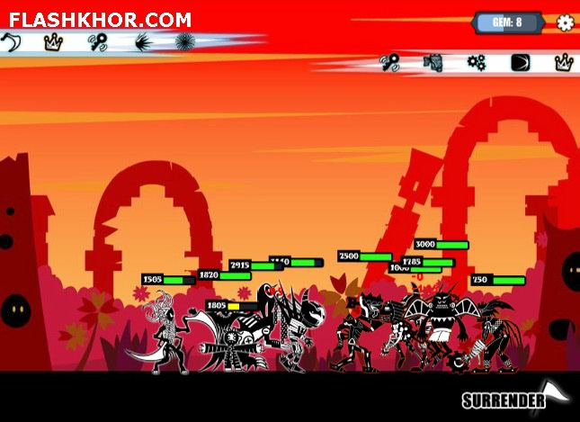 بازی آنلاین جنگ موجودات سیاه - اکشن فلش