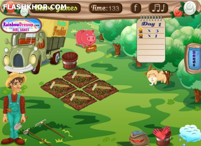 بازی آنلاین مزرعه داری بازار مزرعه دار - دخترانه فلش
