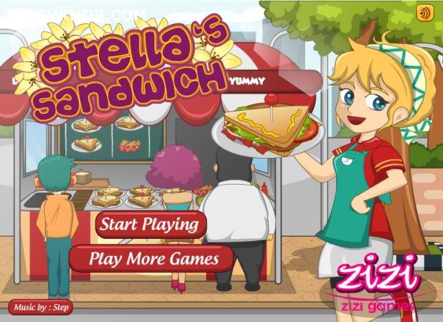 بازی آنلاین مدیریتی فست فود ساندویچی خانم استلا - دخترانه فلش