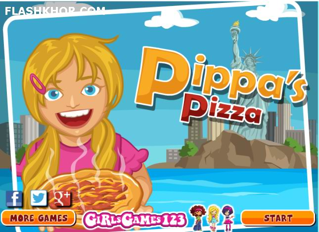 بازی آنلاین مدیریتی پیتزا فروشی خانم پیپا - دخترانه فلش