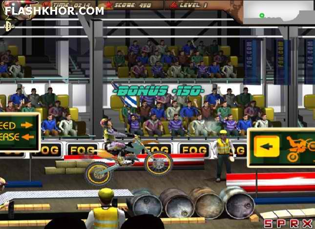 بازی آنلاین موتور سواری جاده پر مانع- ورزشی فلش
