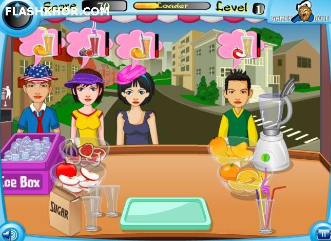 بازی آنلاین مدیریتی آبمیوه فروشی - دخترانه فلش