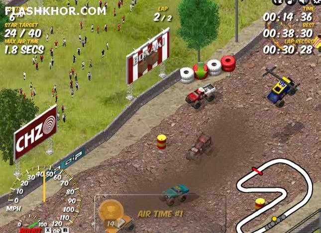 بازی آنلاین کامیون سواری در جاده خاکی 2 - ورزشی فلش