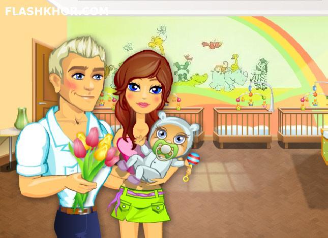 بازی آنلاین بچه داری خانم جنیفر عاشق بچه 3 - دخترانه فلش