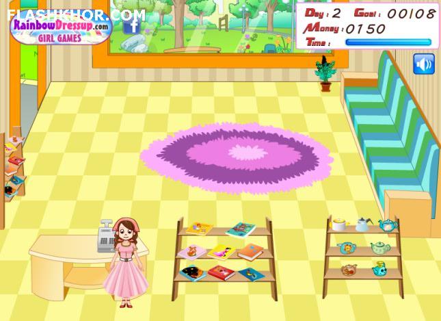 بازی آنلاین مدیریتی فروشگاه کتاب - دخترانه فلش