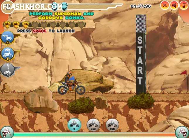 بازی آنلاین موتور سواری حرکات نمایشی در هوا - ورزشی فلش