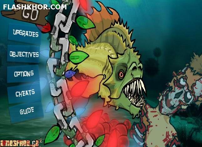 بازی آنلاین ماهی خشن 4 کریسمس - اکشن فلش