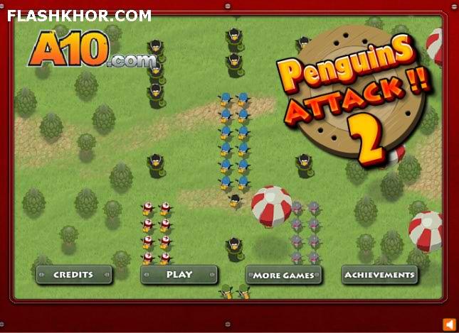 بازی آنلاین دفاع از برج حمله پنگوئن ها 2 - استراتژی فلش