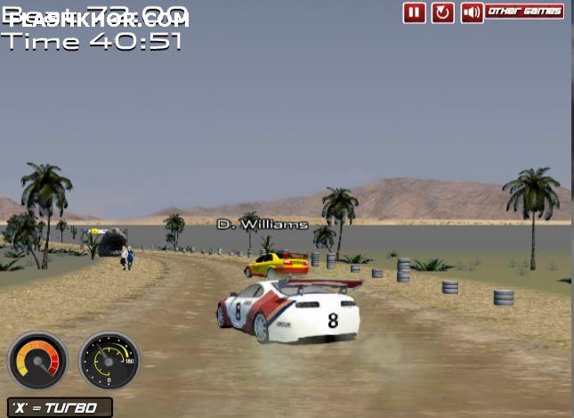 بازی آنلاین ماشین سواری چالش رالی فوق العاده - ورزشی فلش