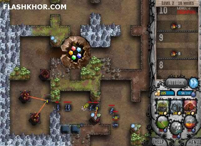 بازی آنلاین دفاع از برج گنج نفرین شده : بسته مراحل جدید - استراتژیک فلش