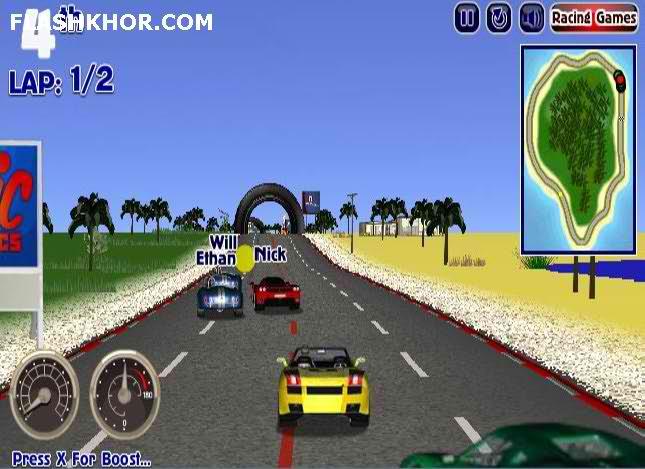 بازی آنلاین ماشین سواری رانندگان جسور - ورزشی فلش