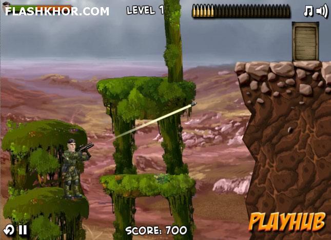 بازی آنلاین تیر اندازی سرباز مکانیکی - اکشن فلش