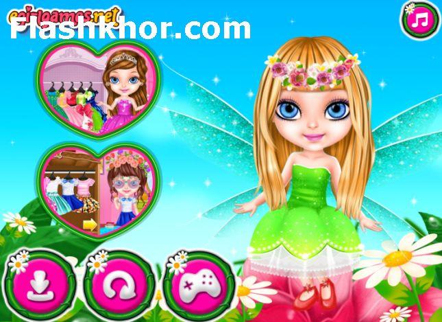 بازی آنلاین آرایشگری باربی و مدل لباس باربی دوست داشتنی - دخترانه فلش