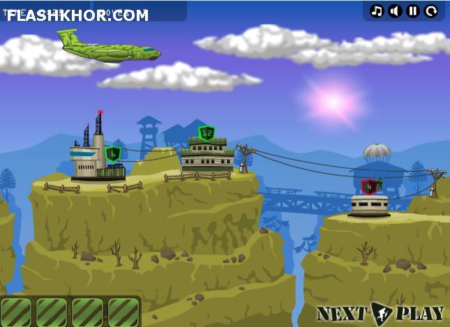 بازی آنلاین جنگ های هوابرد 2 - استراتژیک فلش