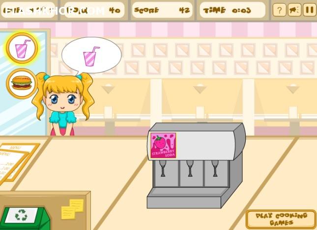 بازی آنلاین رستوران داری همبرگر فروشی فرنزی - دخترانه فلش