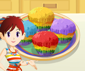 بازی شیرینی پزی کلوچه های رنگین کمان - دخترانه