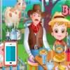 بازی آنلاین بچه داری هیزل کوچولو و تور مزرعه داری - دخترانه فلش