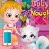 بازی آنلاین بچه داری هیزل کوچولو و گربه ملوس - دخترانه