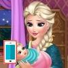 بازی بچه داری السا فروزن و غذا دادن به بچه - دخترانه