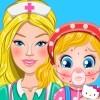 بازی دکتری باربی درمان آلرژی بچه باربی - پزشکی دخترانه