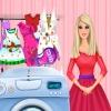 بازی شستن لباس باربی دخترانه
