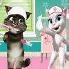 بازی آنلاین فلش بازی آنلاین گربه سخنگو بعد از تصادف دکتری فلش