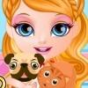بازی بچه باربی و مراقبت از حیوانات خانگی
