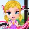 بازی بچه ی باربی و دوچرخه سواری دخترانه