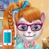 بازی آرایشگری برای اندروید بازی آنلاین کامپیوتر دخترانه گربه سخنگو