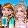 بازی پالتو و ژاکت کریسمس پرنسس های دیزنی مدل لباس زمستان